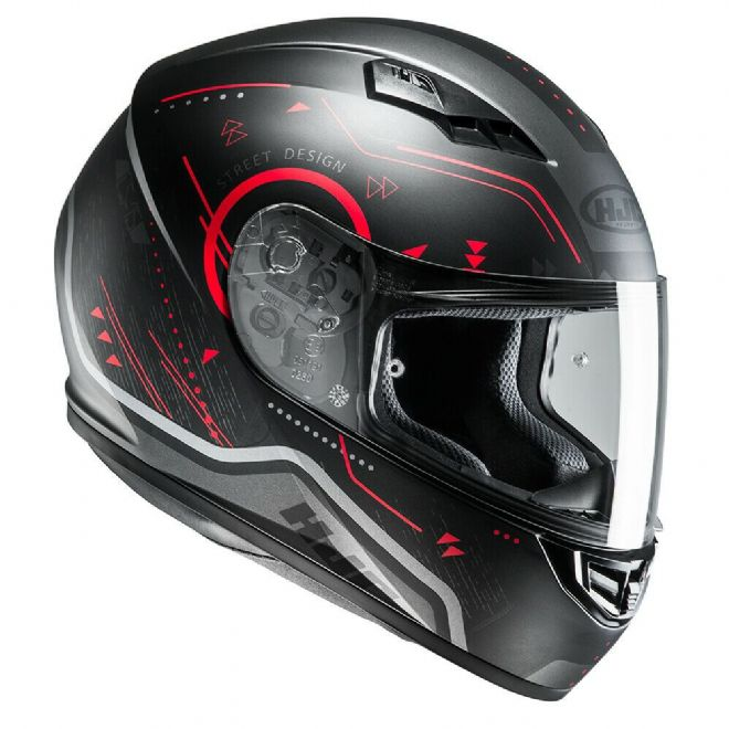 HJC CS-15 Safa Red Motorcycle Motorbike Helmet - Medium - RRP £89.99